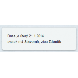 Date and holidays (Joomla! 2.5, 3) CZ